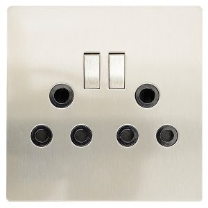 stainless-steel-outlet-covers.html4 x 4 double socket outlet steel cbi